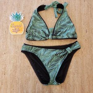 NWOT Betsey Johnson jeweled bikini